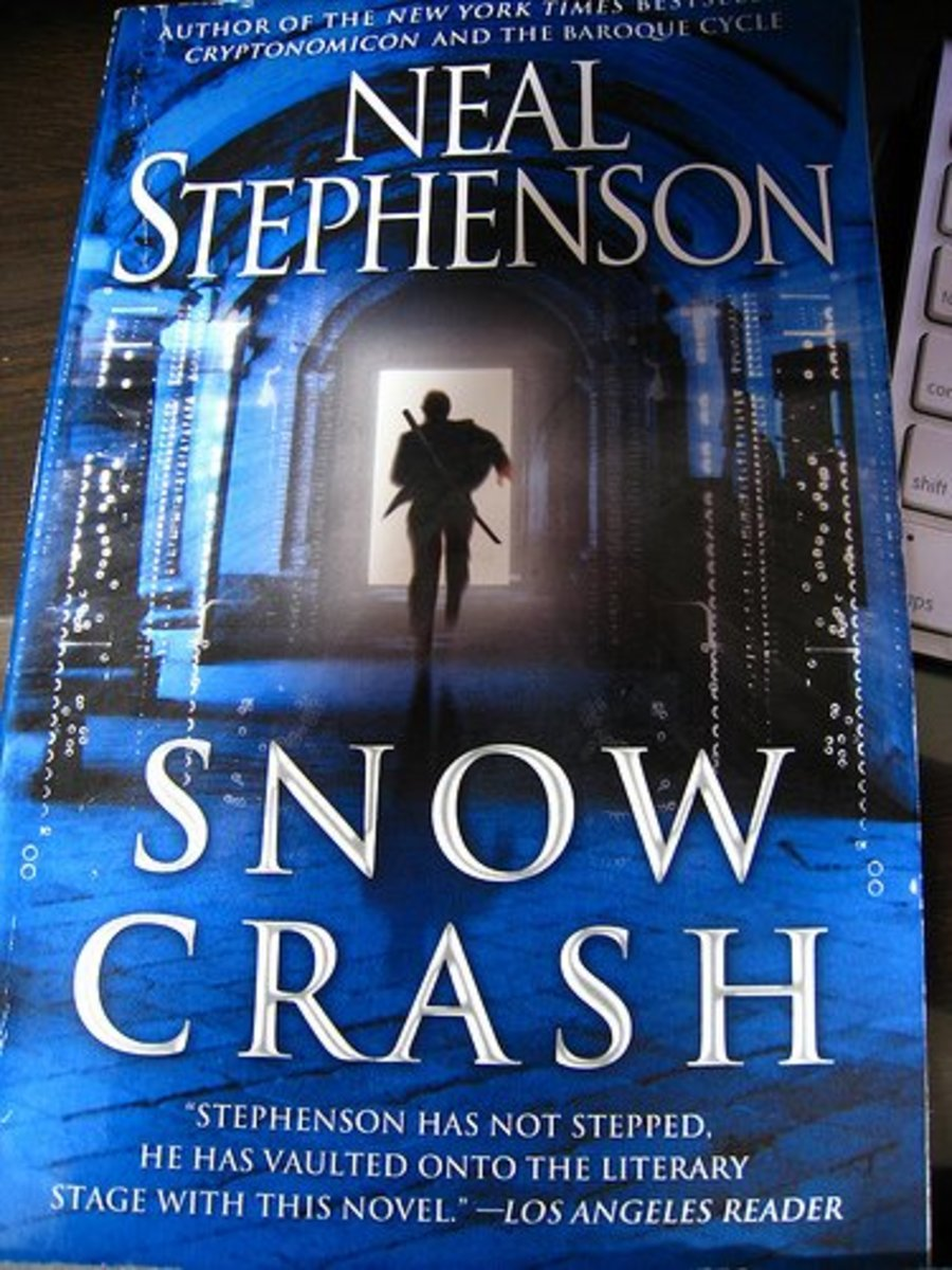 an analysis of tone in snow crash a novel by neal stephenson Neal stephenson's bestselling science-fiction novels (snow crash, anathem,   the book's opening essay tries to correlate the theme of class.