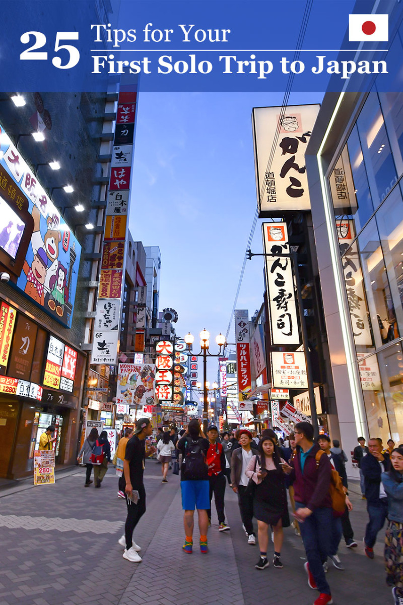 25 practical tips for your first solo trip to Japan.