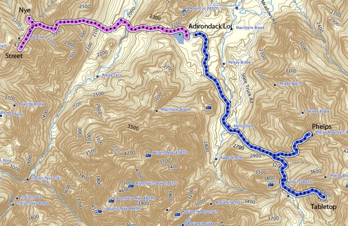 Adirondack Hike:  Street and Nye