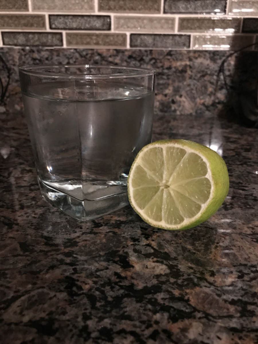 A fresh glass of lemon juice in the morning to wake up!