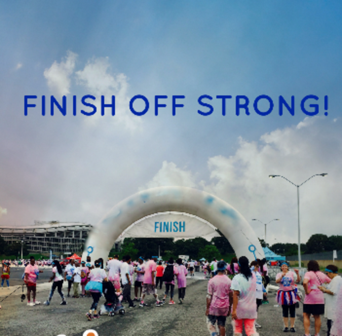 Join some friends for a jog and finish strong till the end.