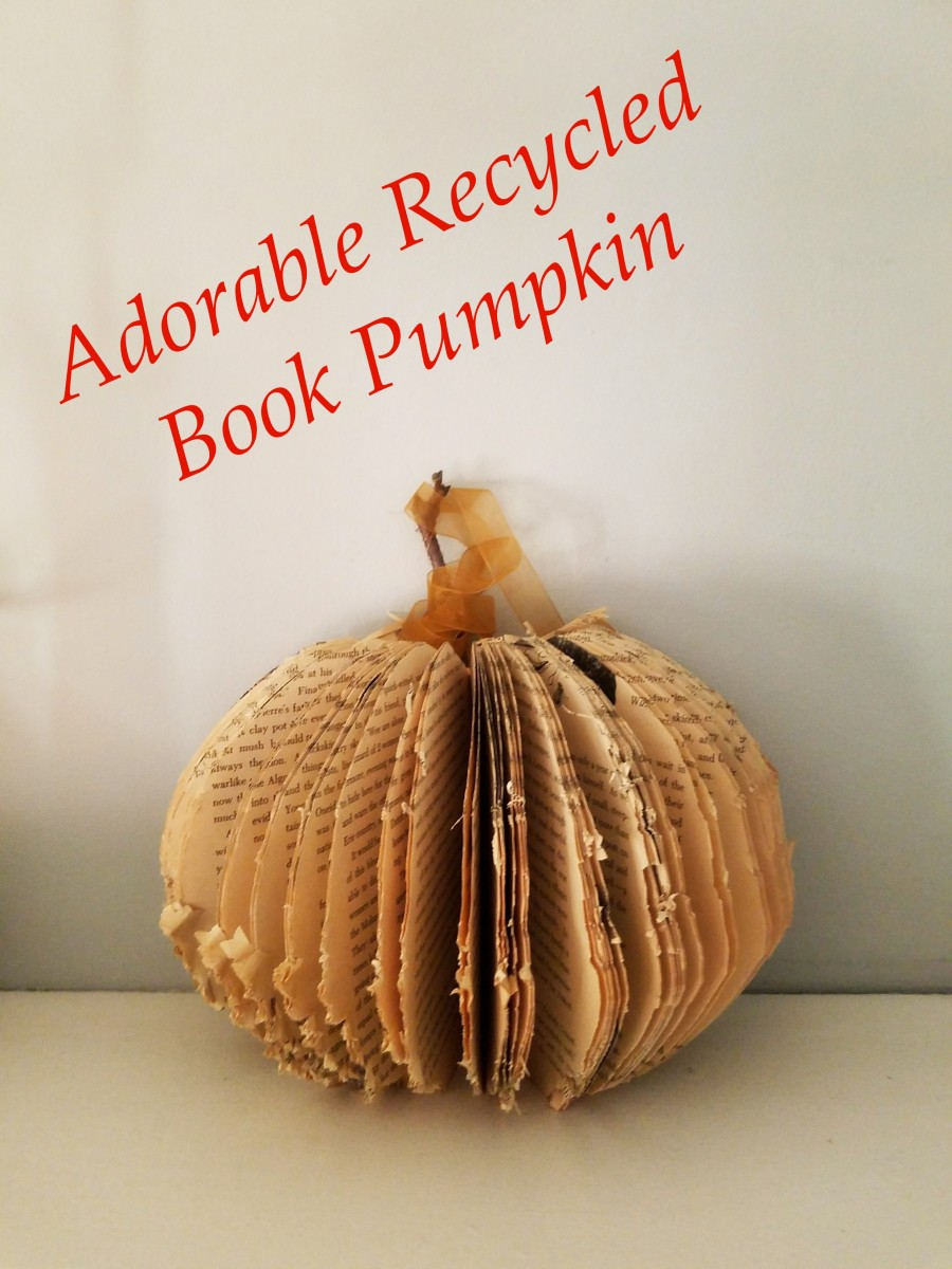 Adorable Recycled Book Pumpkin Craft