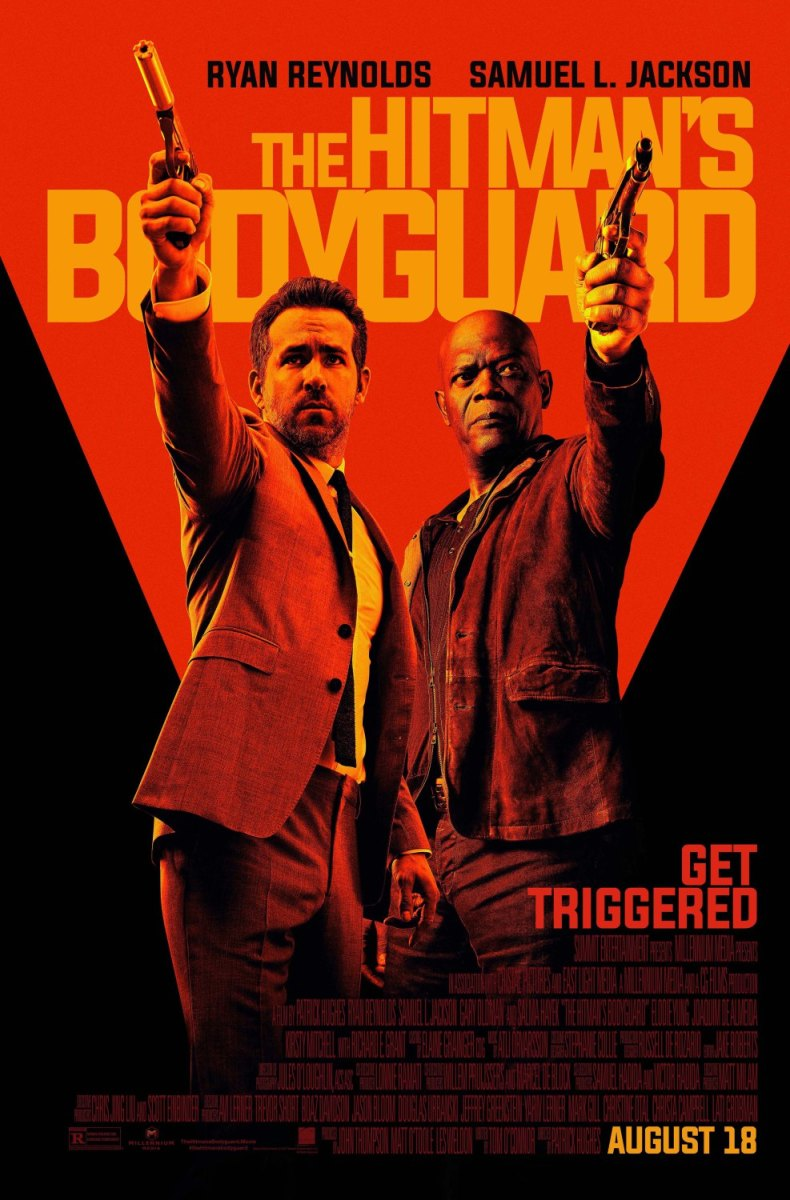 "The final one-sheet theatrical poster for ""The Hitman's Bodyguard."""