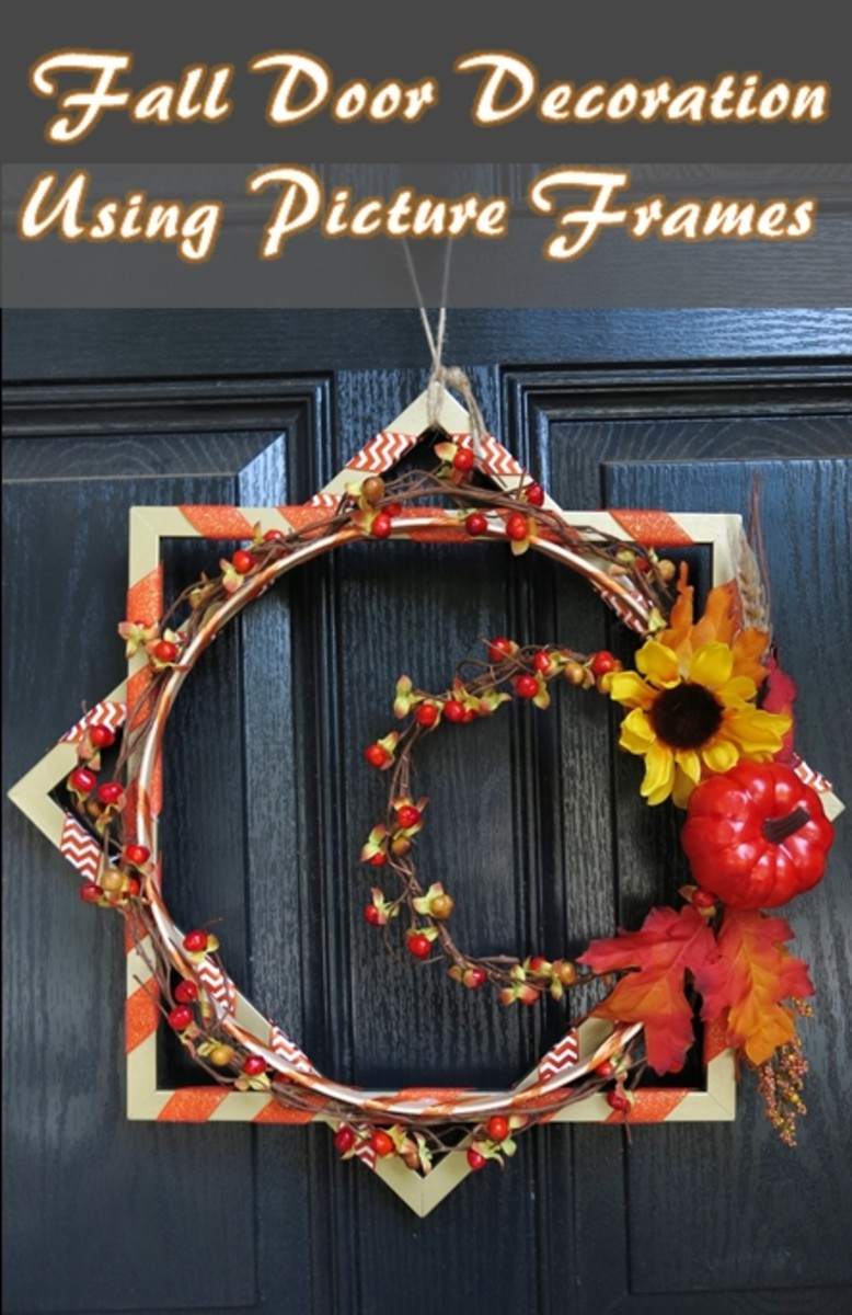 DIY Craft Tutorial:  How to Make a Festive Fall Door Wreath Using Picture Frames