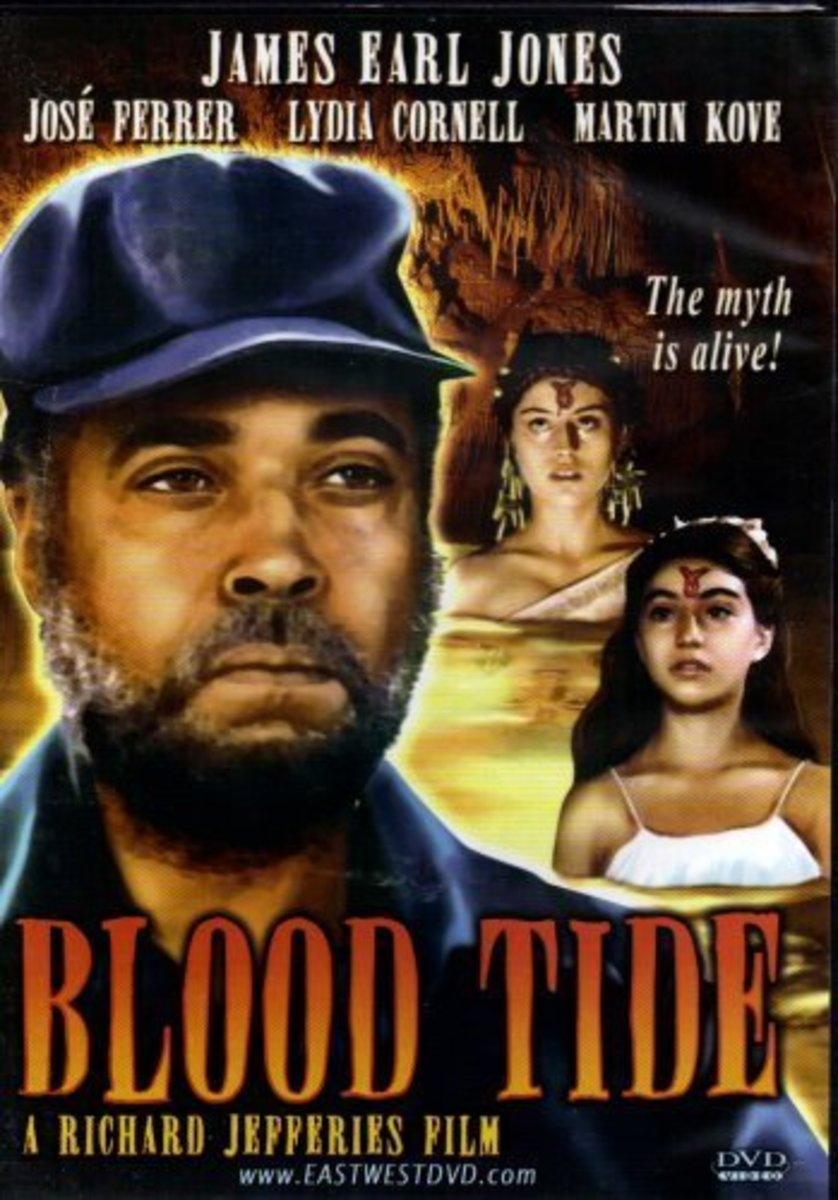 """One of the many unimpressive DVD covers for """"Blood Tide"""""""