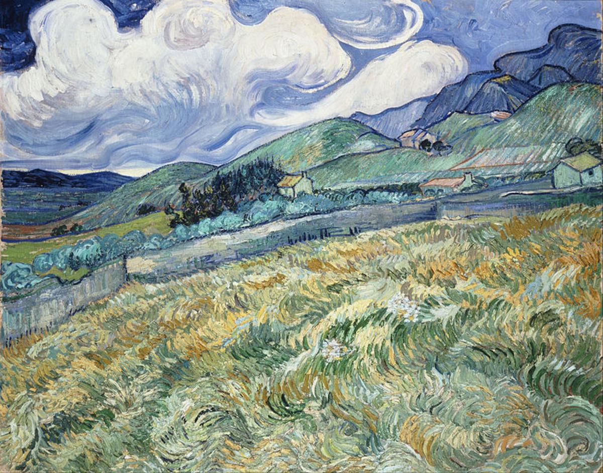 Van gogh Landscape from Saint Remy.