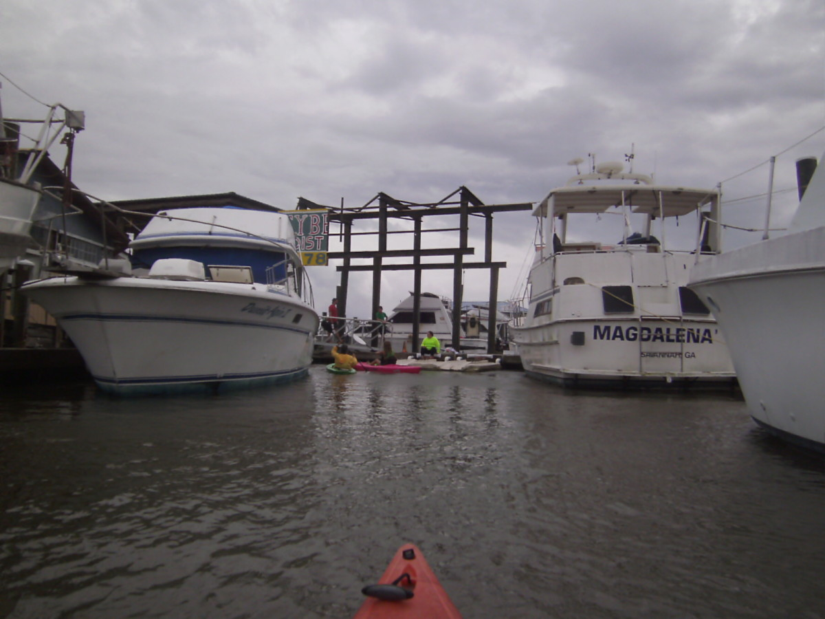 Yes, the theme to Gilligan's Island was sung dockside as we pulled out into the gray mist and rough waters.