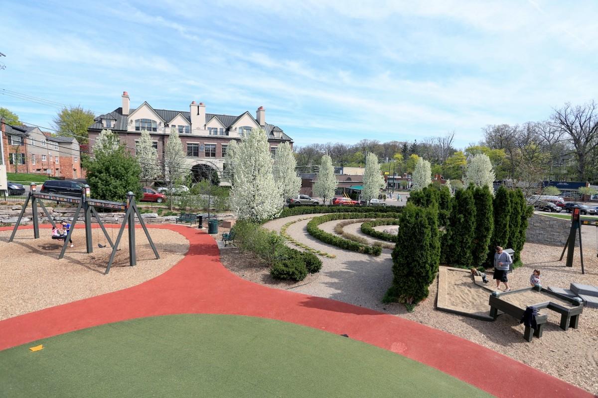 Booth Park in Birmingham, Michigan.