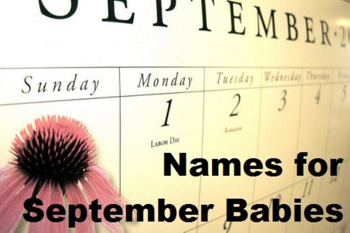 Baby Name Ideas for Girls and Boys Born in the Month of