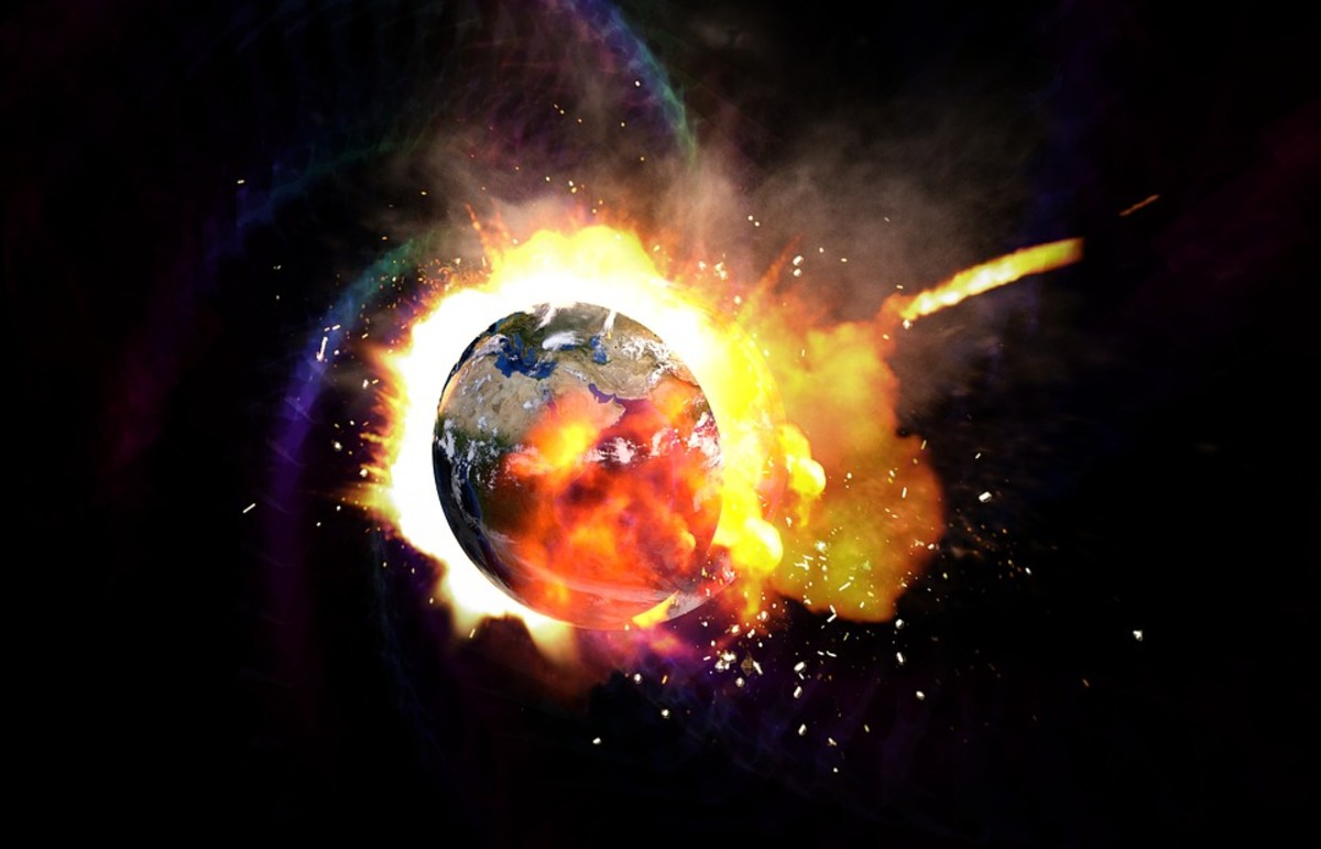 Earth exploding may not immediately seem to quell anxiety...