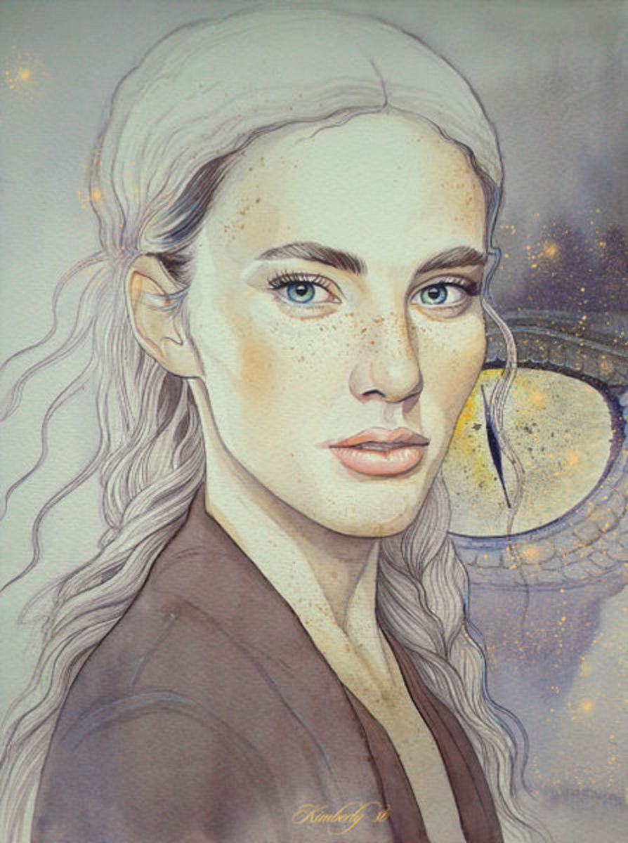 by artist, Kimberly: Nienor, the last child of Hurin and Morwen and sister to Turin and Lalaith.