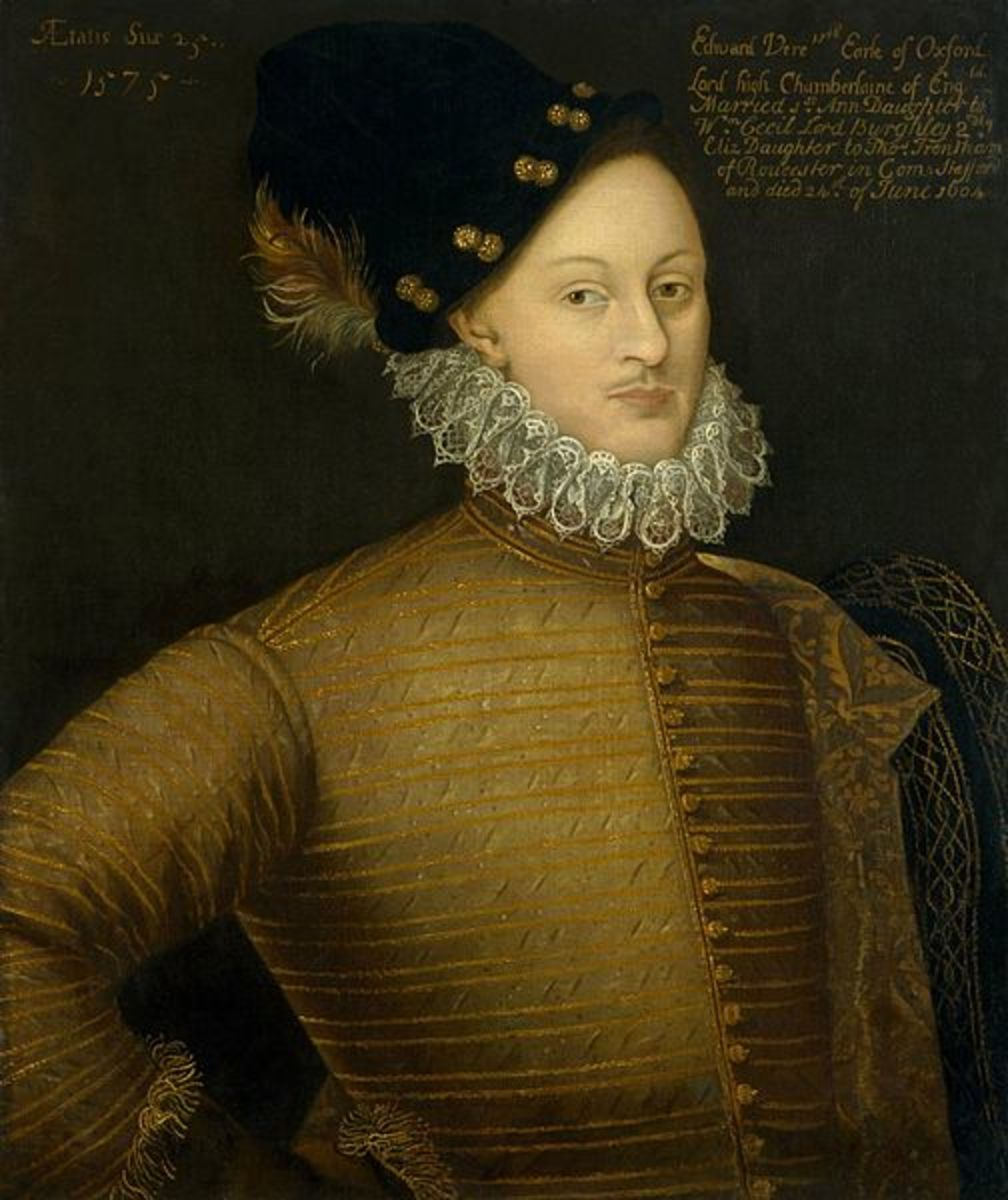 "The real ""Shakespeare,"" pen-name for Edward de Vere, 17th Earl of Oxford"