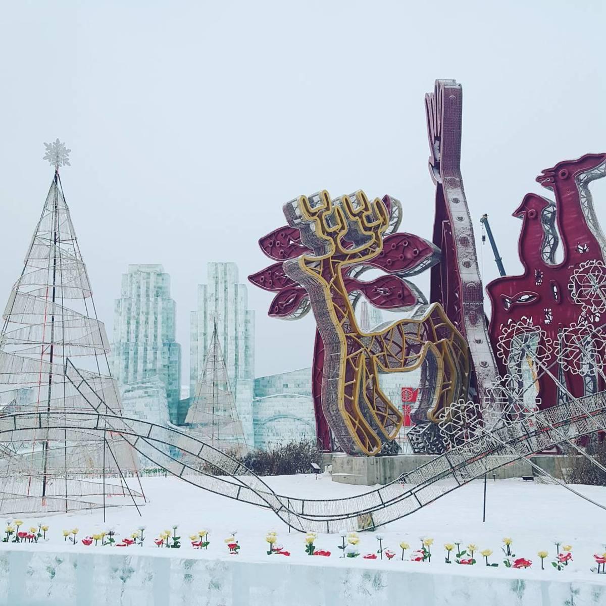 Visit the Harbin Ice Festival