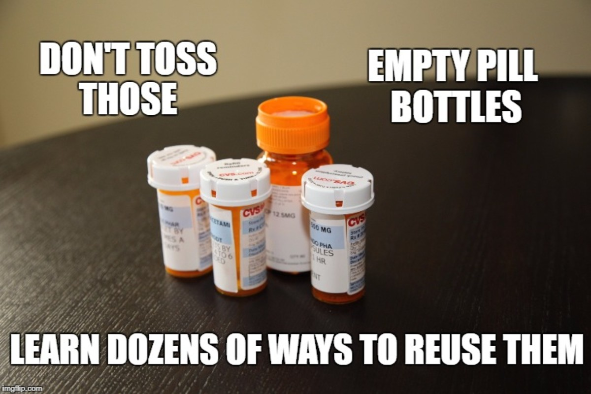Ways to Reuse Pill Bottles