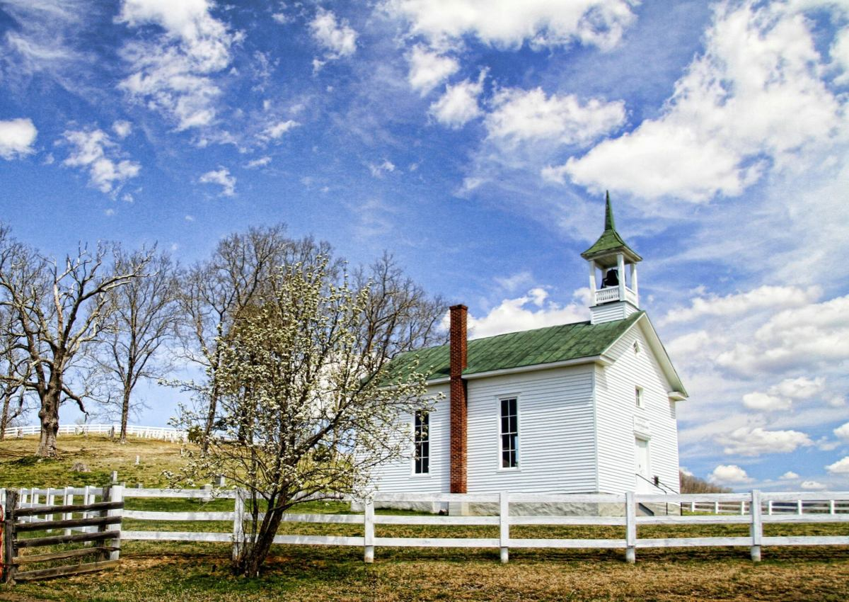 A small country church in Virginia.