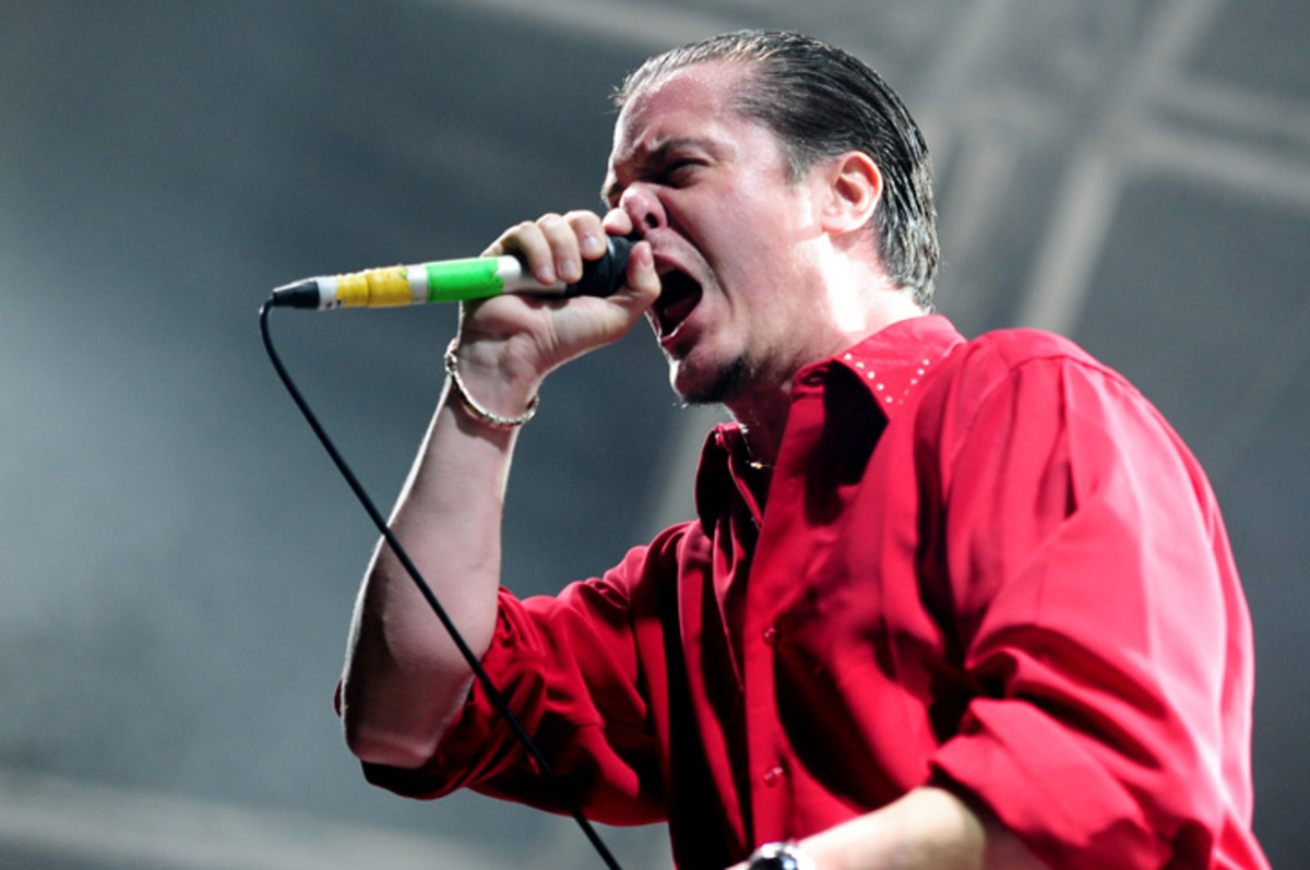 Mike Patton onstage 2010 with Faith No More