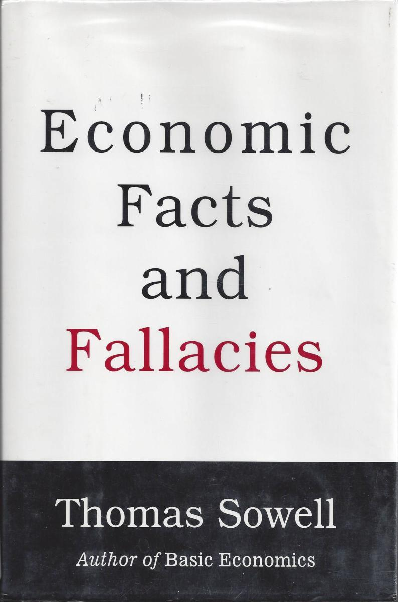 "The Cover of ""Economic Facts and Fallacies"" by Sowell"