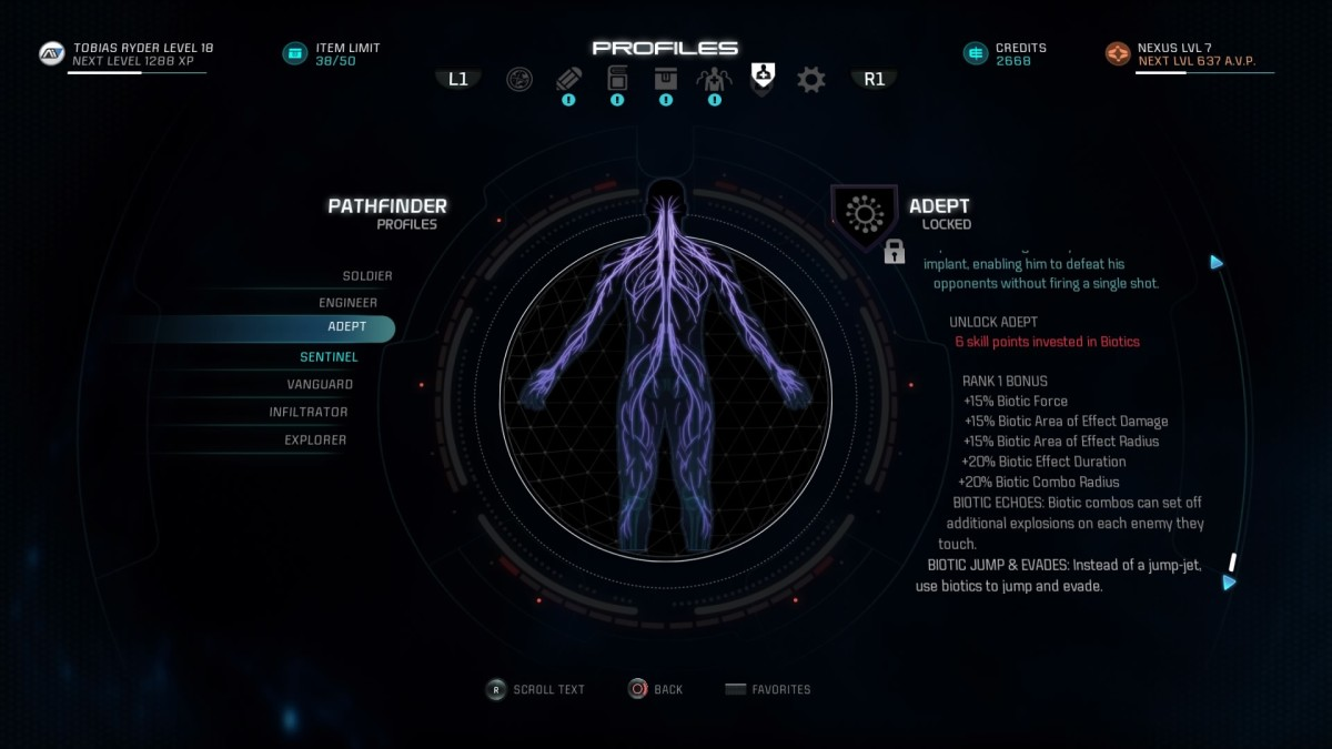 Mass Effect Andromeda Build Guide: Adept Profile
