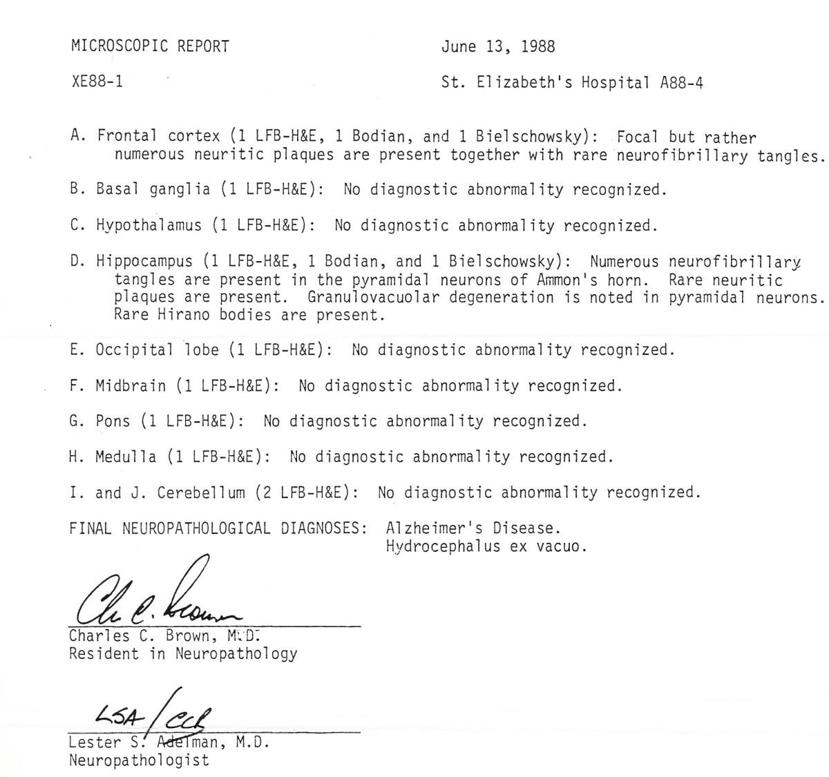 Brain Autopsy Report