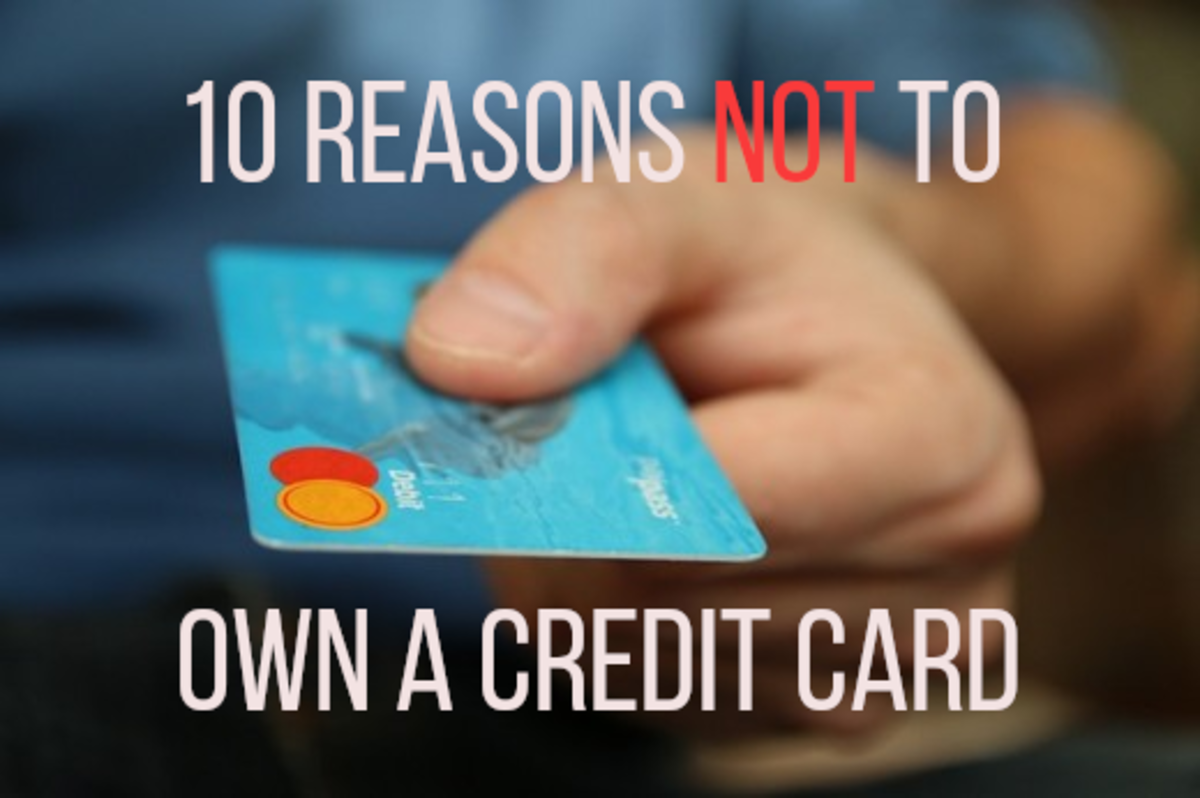 10 Reasons Not to Have a Credit Card