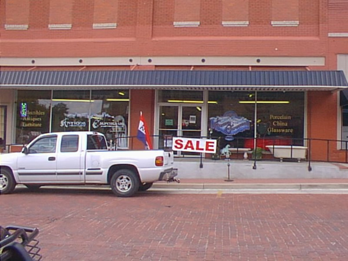 Retail shops in a rural area need convenient parking spaces and friendly salespeople.