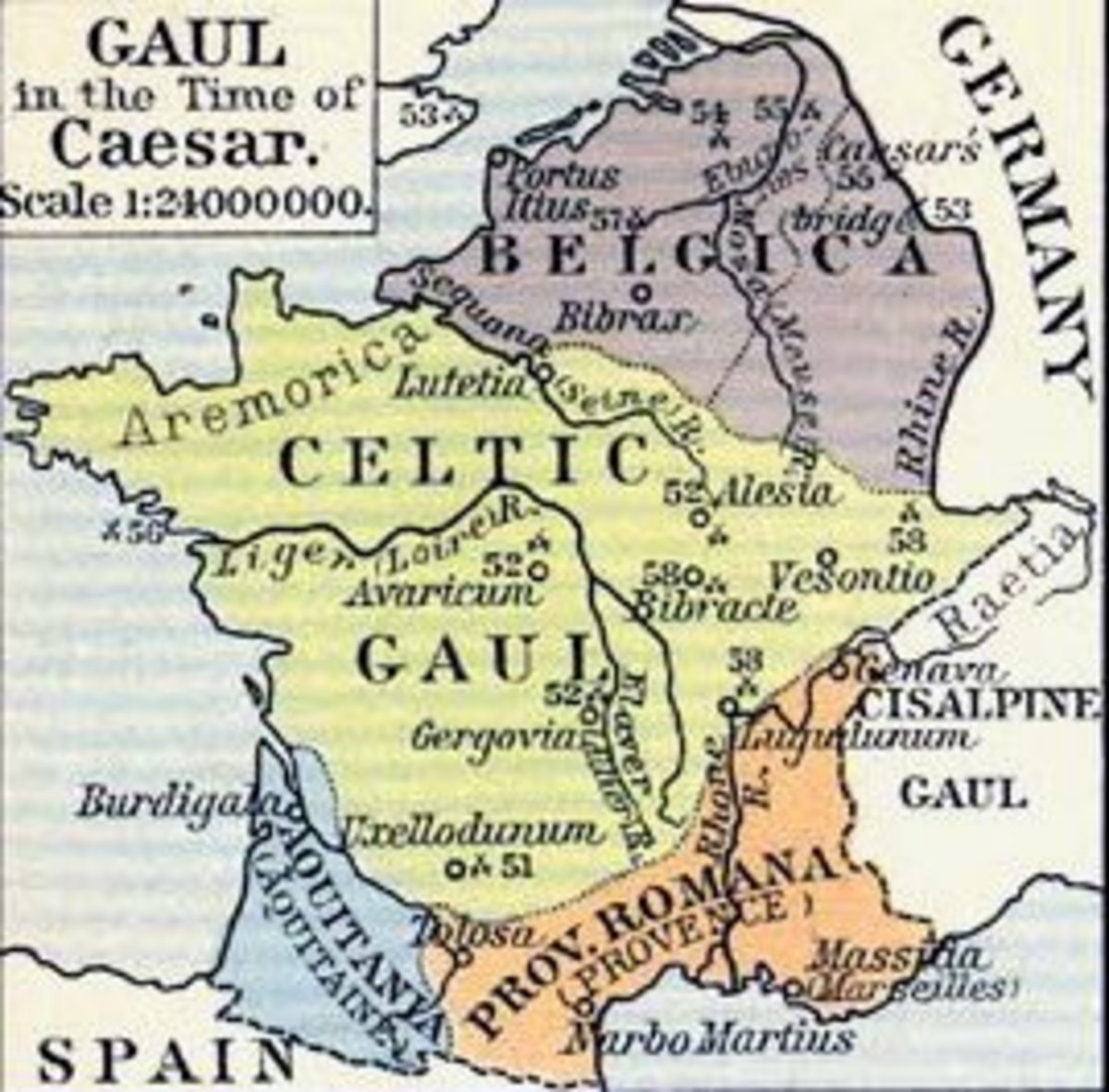 Modern day France is where Caesar conquered and named the area Gaul, but why did he not continue into Germany?