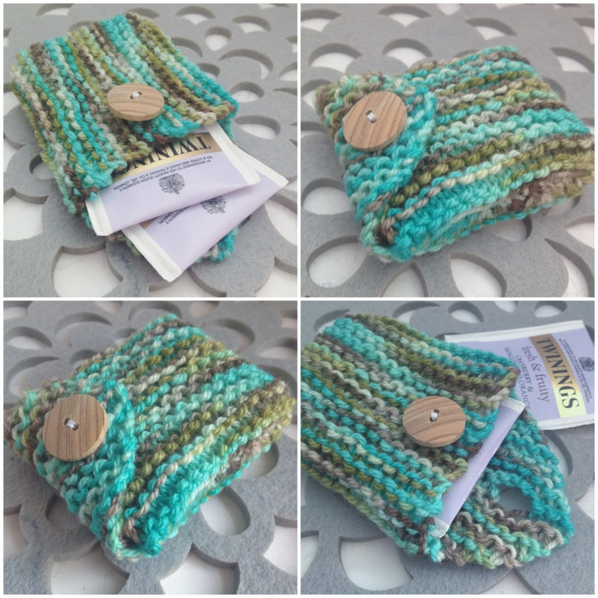 Free Tea Bag Caddy Knitting Pattern | FeltMagnet