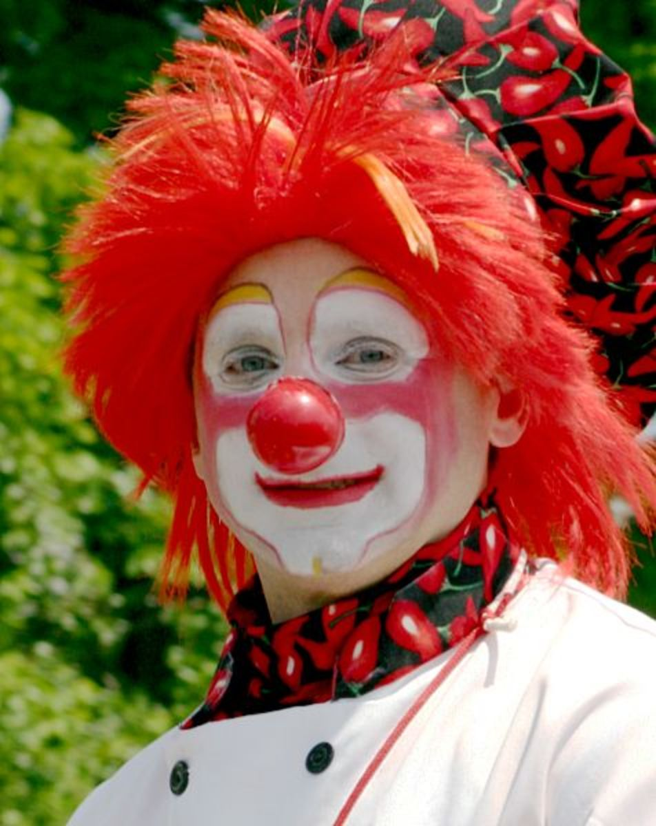 Clown in the mirror