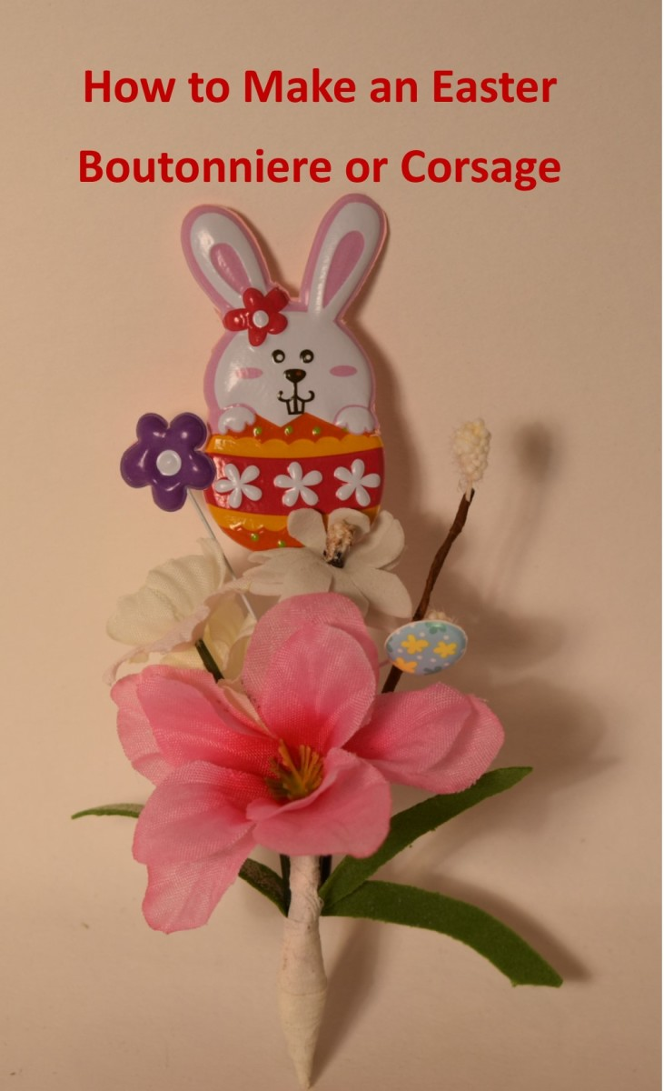 A completed Easter Boutonniere