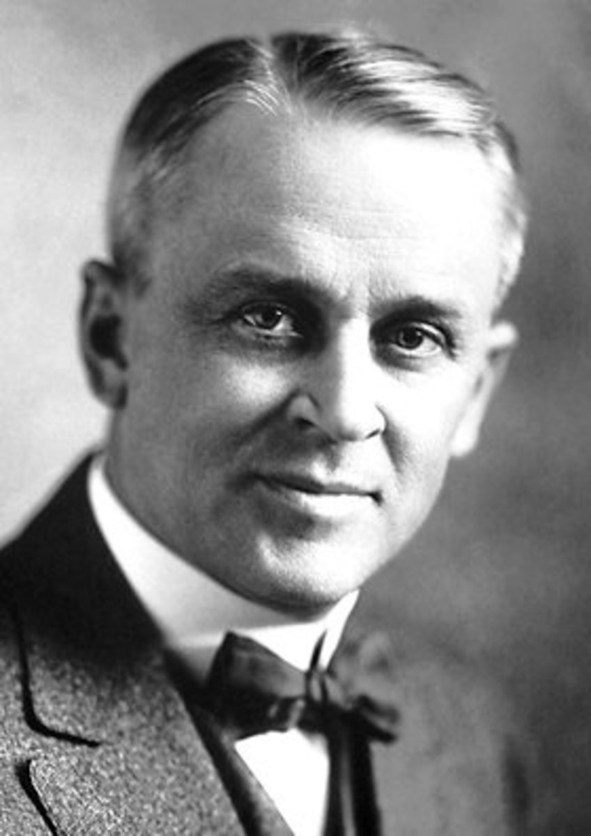 Robert Millikan, the 1923 Nobel prize winning physicist, who determined the electron's charge