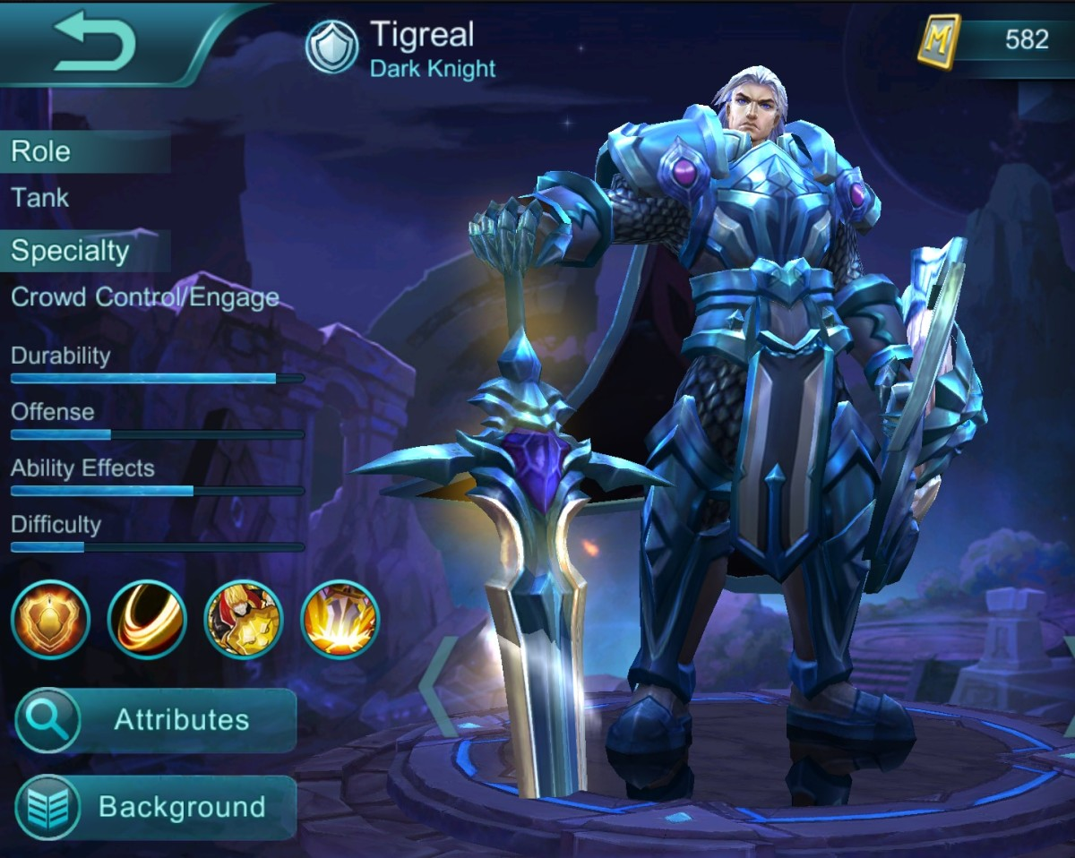 Tigreal with Dark Knight Skin Copyright (Photo: moonton)