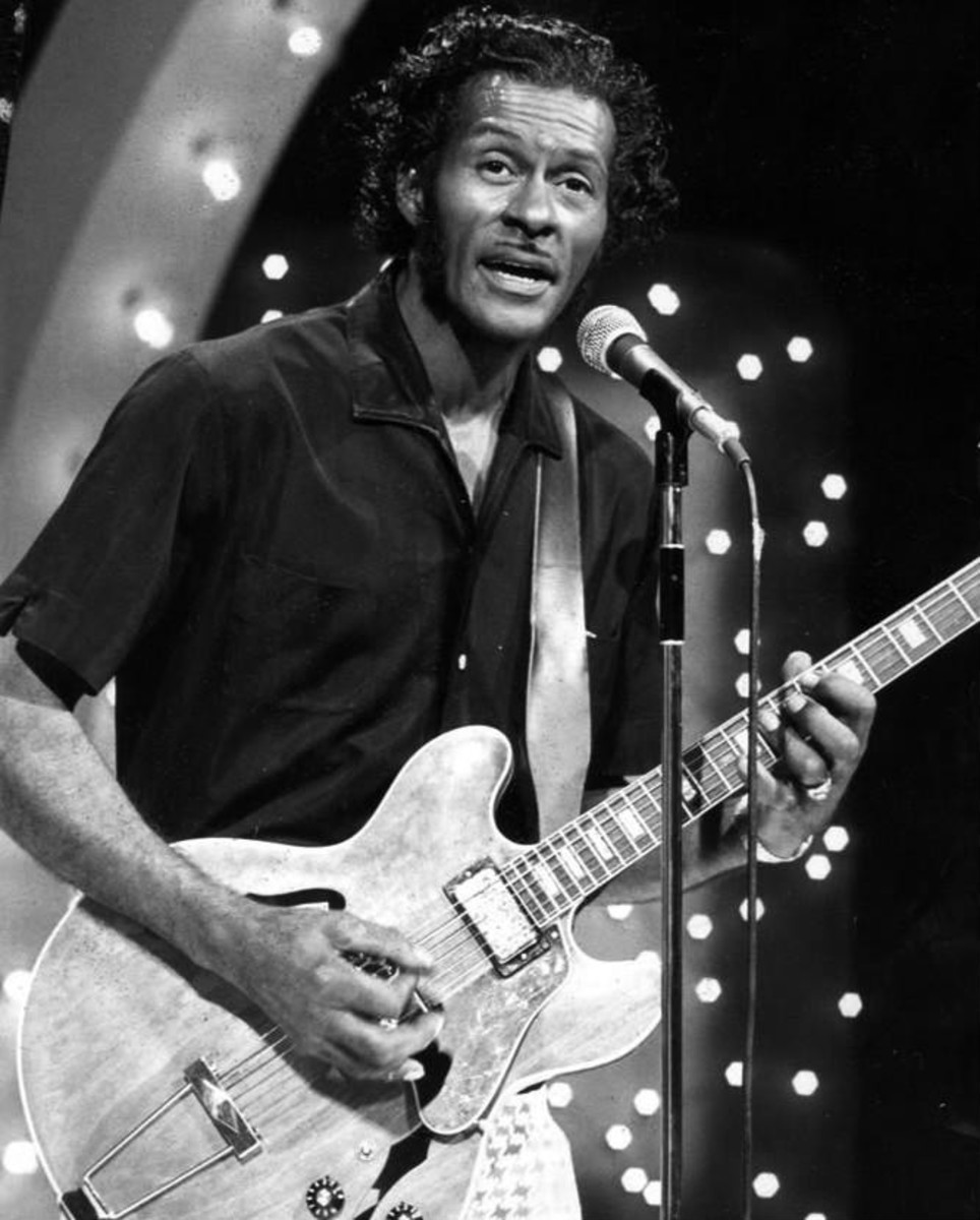 Chuck Berry performing on TV in 1973