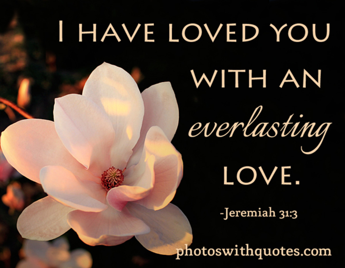 Everlasting love. ―Jeremiah 31: 3 (Free Wallpaper)