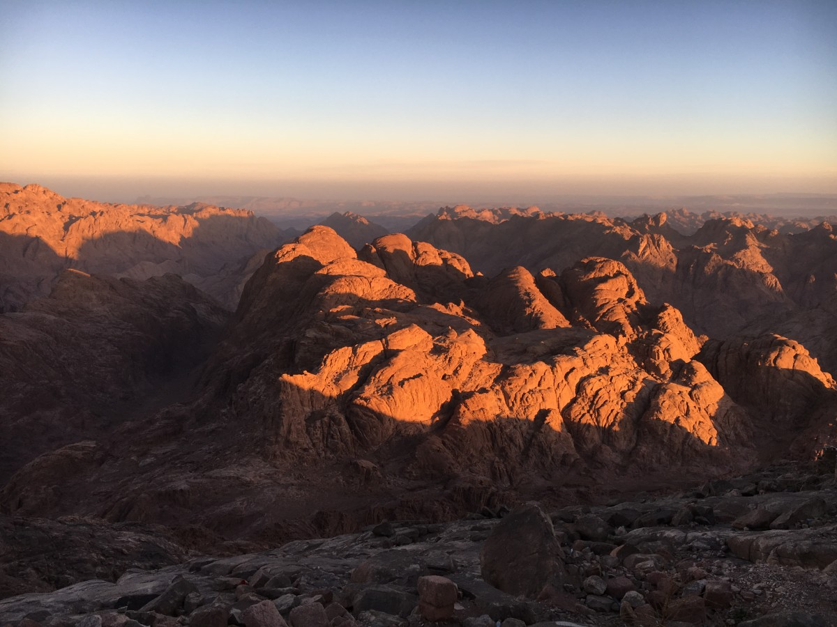Sunrise at Mount Sinai Egypt