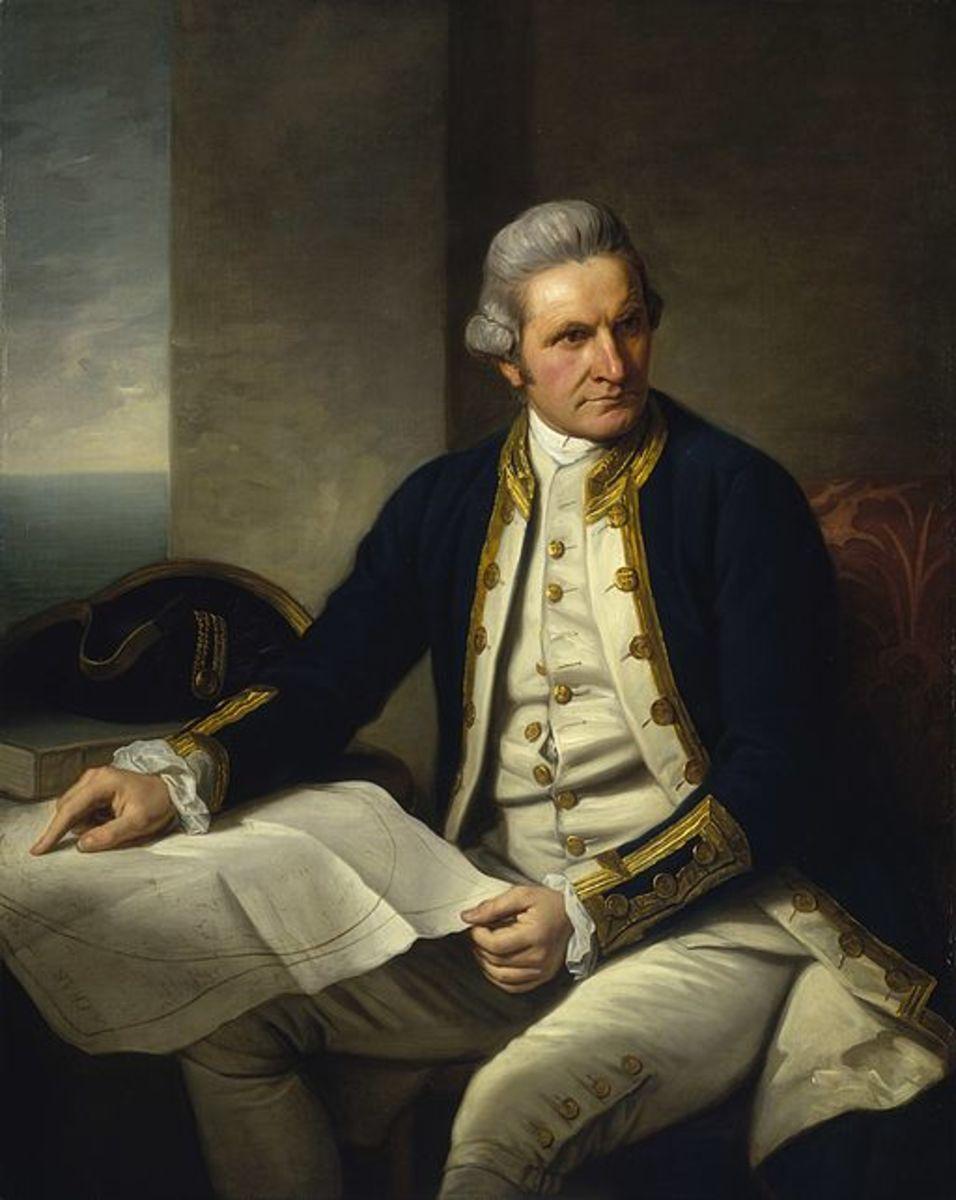 Captain James Cook. Portrait by Nathaniel Dance-Holland