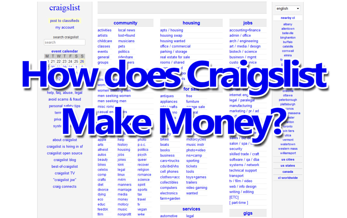How does Craigslist make money online