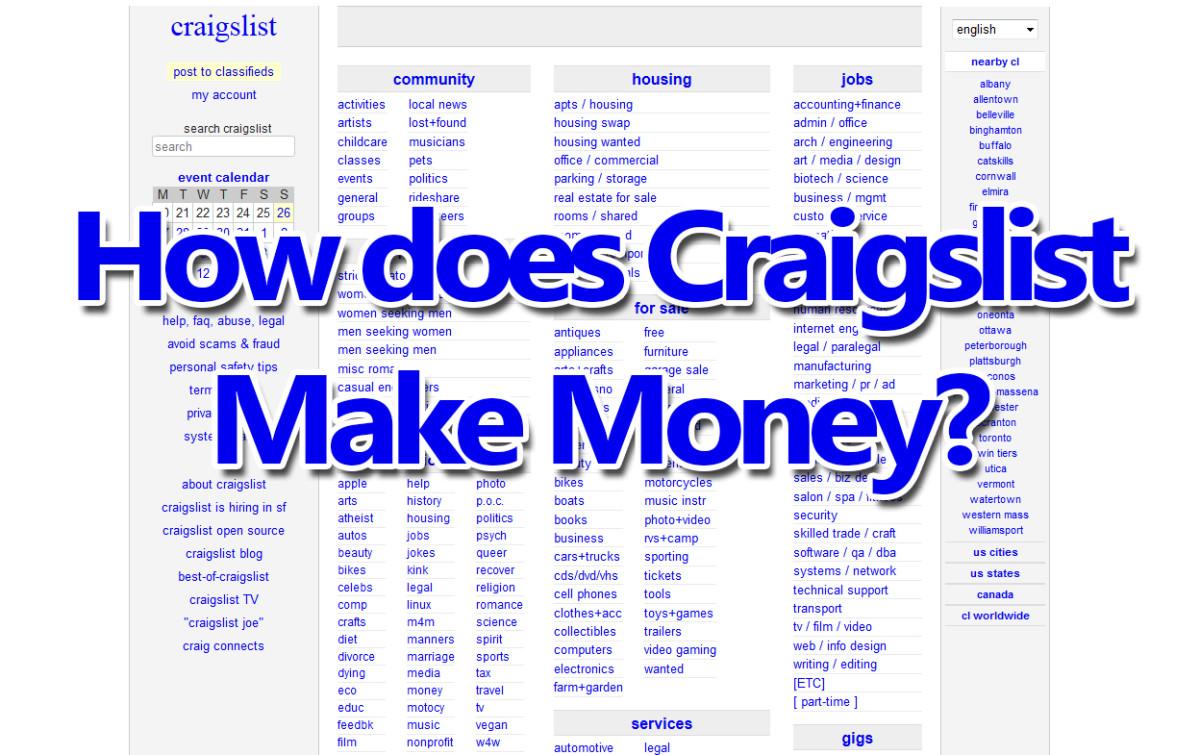 how does craigslist make money online toughnickel. Black Bedroom Furniture Sets. Home Design Ideas