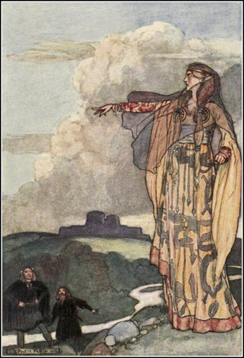 Macha Curses The Men Of Ulster - Stephen Reid (1904)