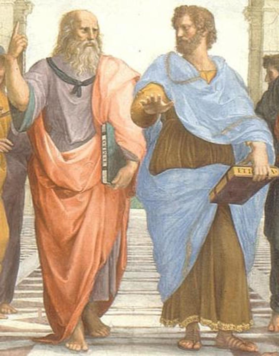 Plato and Aristotle in Athens