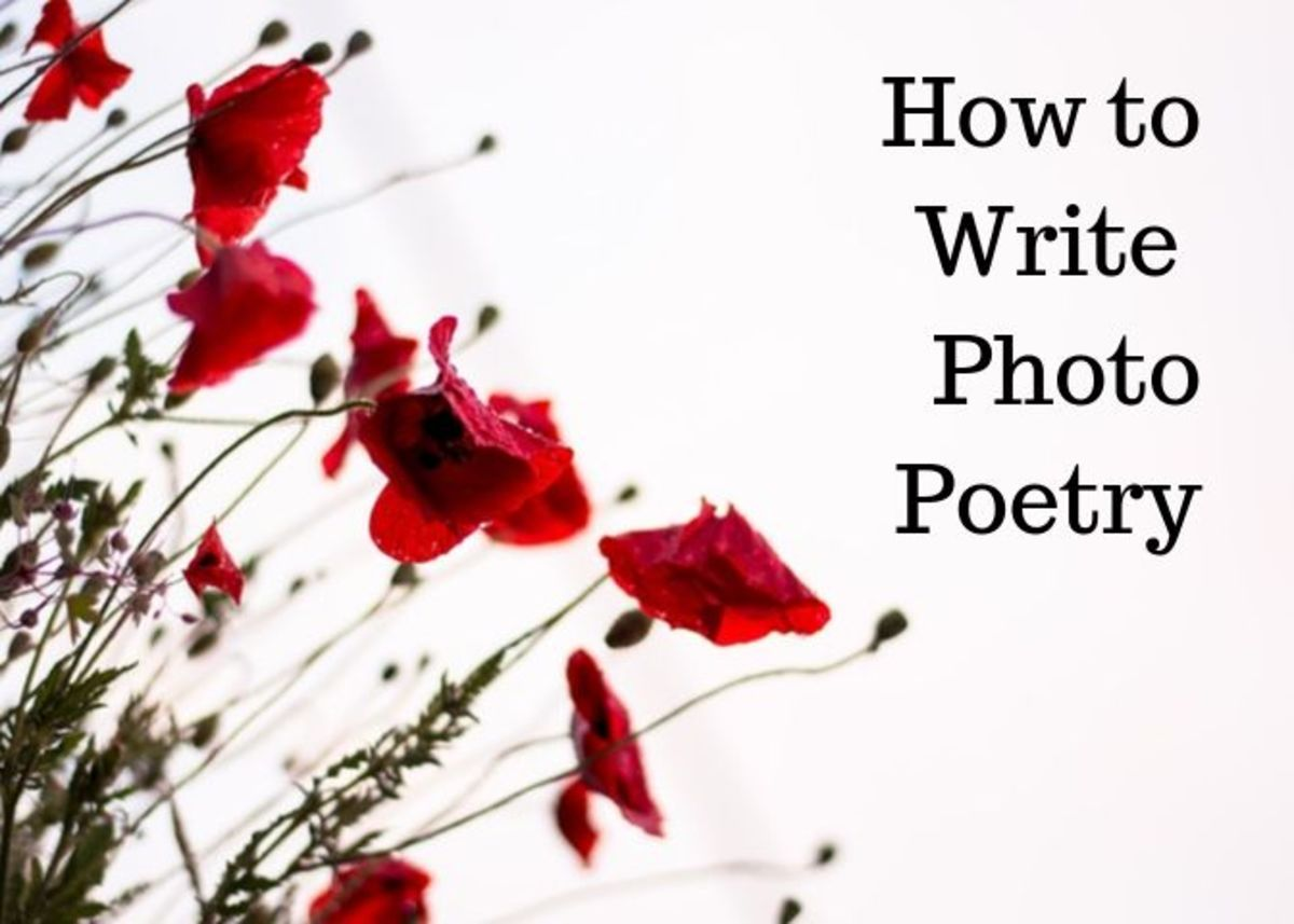 Photo poetry is different from picture poetry—and it's harder than it looks.