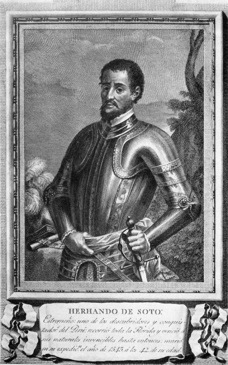 De Soto in his conquistador armor.