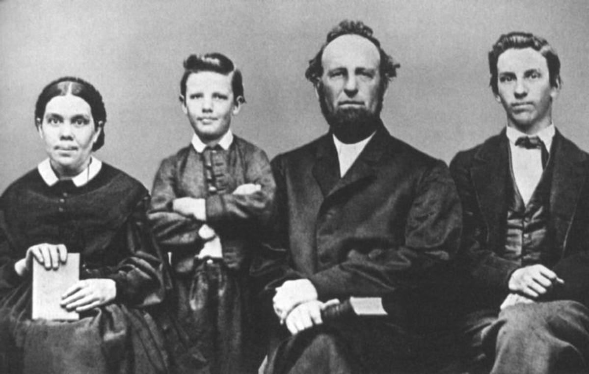 Ellen & James White, co-founders of the SDA church, and their children.