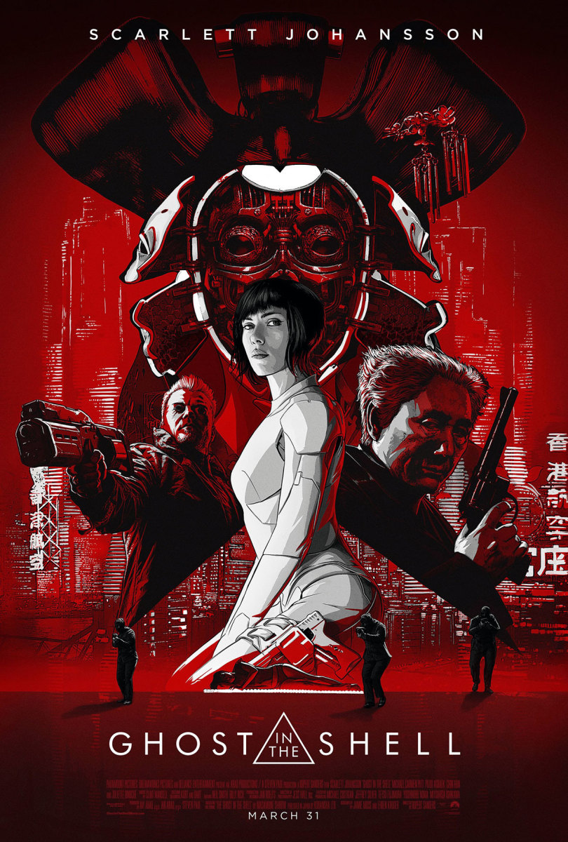 "One of many official theatrical posters for ""Ghost in the Shell."""