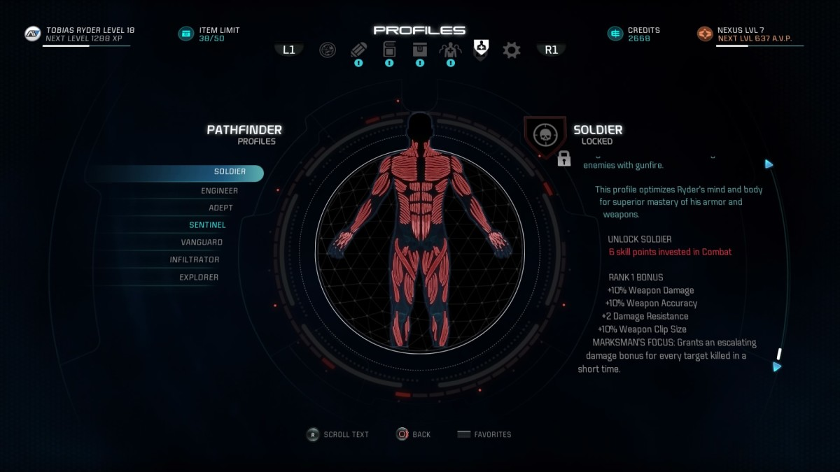 Mass Effect Andromeda Build Guide - Soldier Profile