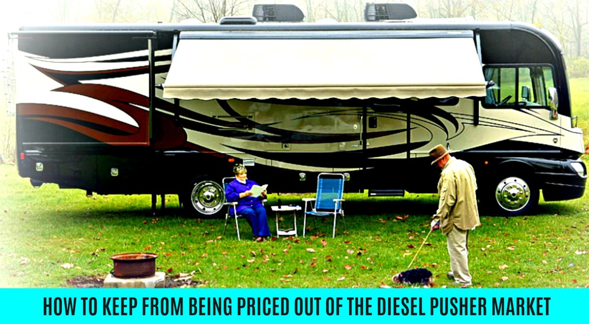 Information that will help people find affordable ways to by diesel pusher motor homes.
