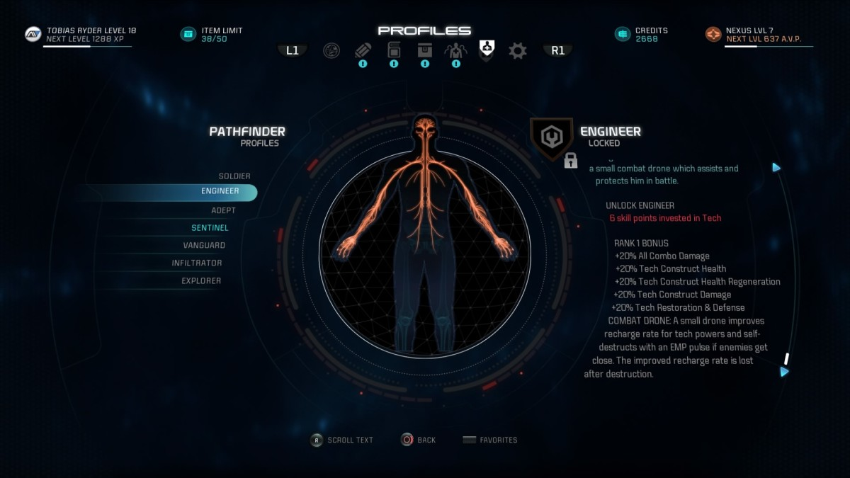 Mass Effect Andromeda Build Guide - Engineer Profile