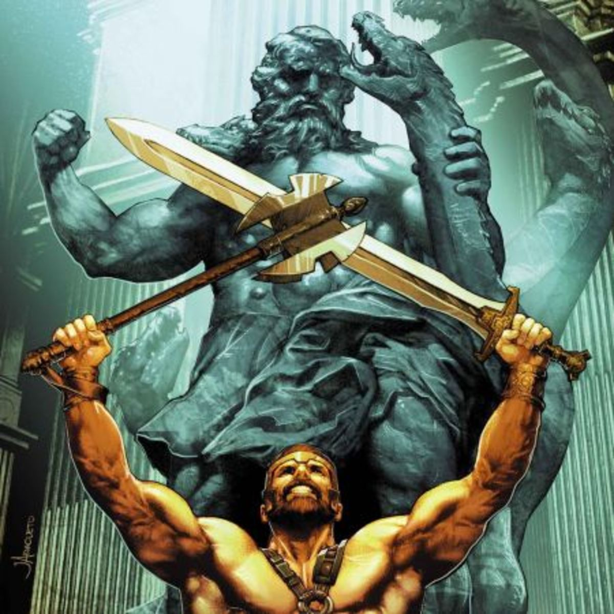 From Marvel Comics series Civil War II: Gods of War. Beowulf, Hercules, Gilgamesh and others.