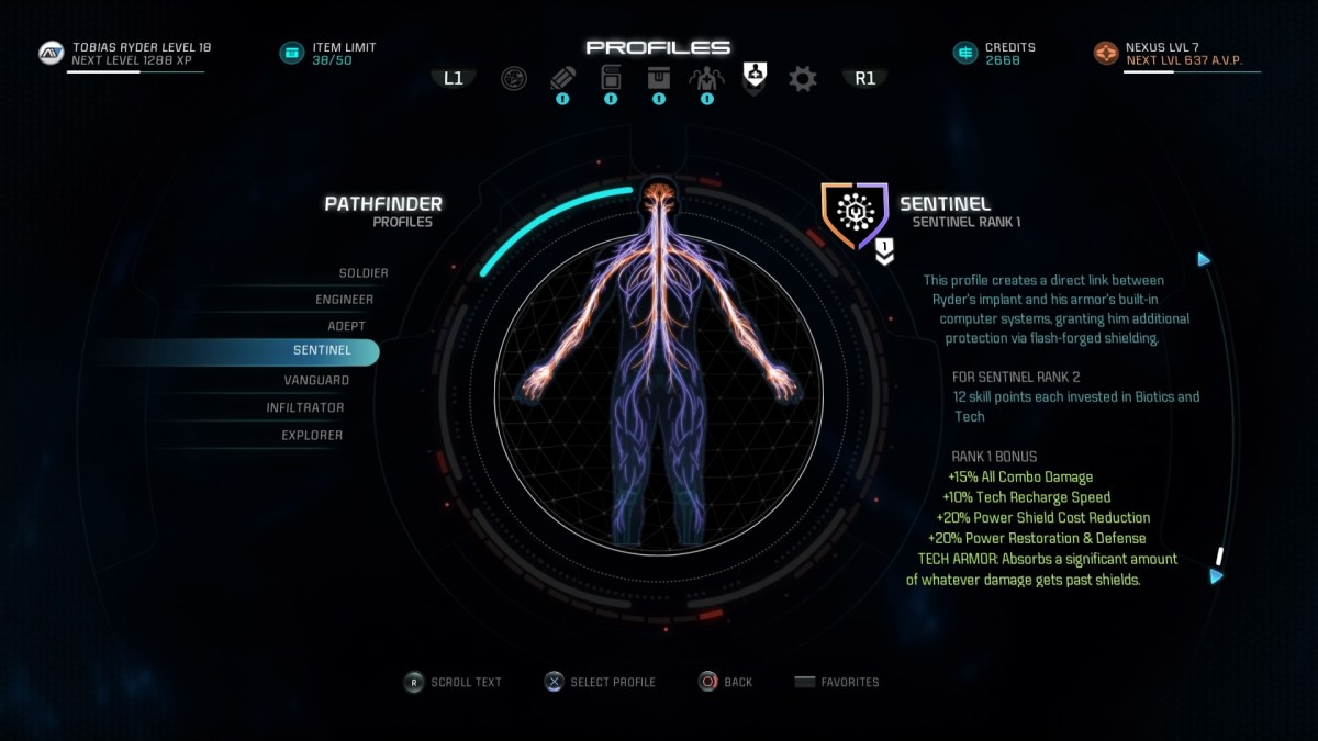Mass Effect Andromeda Build Guide - Sentinel Profile