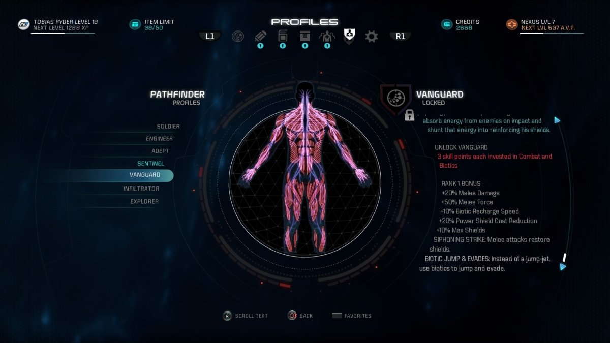 Mass Effect Andromeda Build Guide: Vanguard Profile