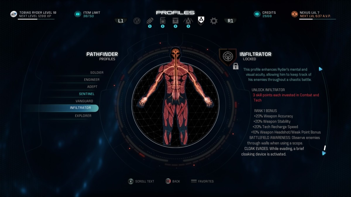 Mass Effect Andromeda Build Guide: Infiltrator